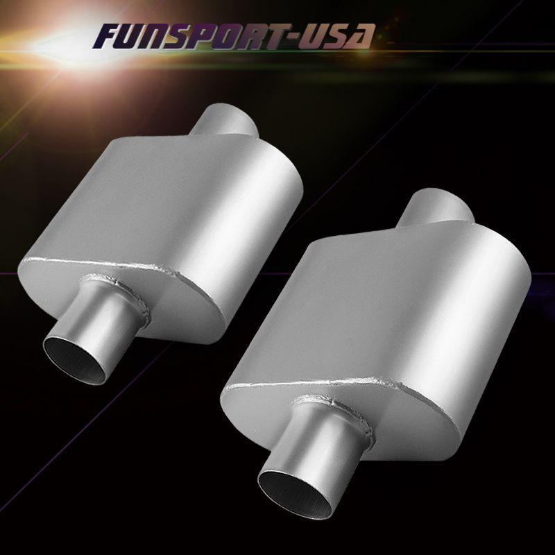 F150 07-13 dual exhaust 2.5 pipe 1 chamber muffler