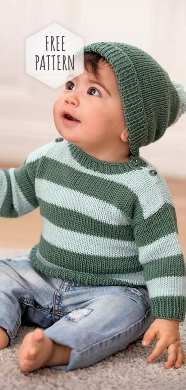 Photo of Headgear and Sweater Free Pattern
