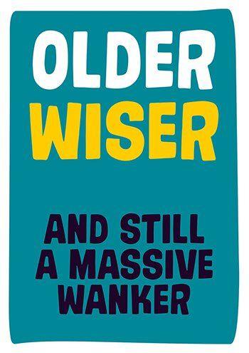 Older Wiser And Still A Massive Wanker Rude Birthday Card Birthday