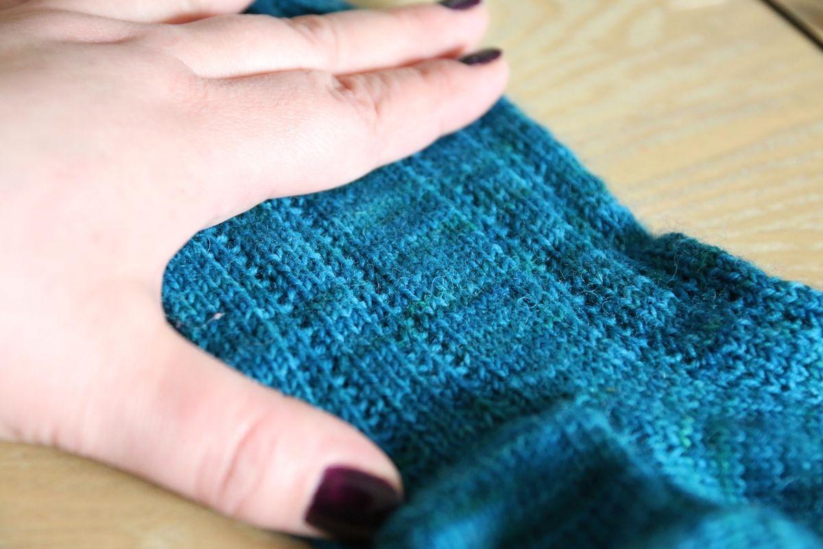 Socken mit Hebemaschen #knitting