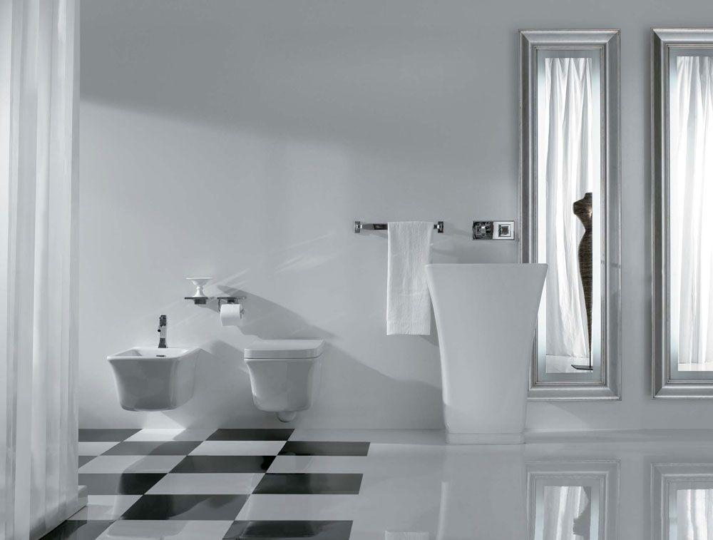 Ceramica Globo Lavabo Relais Free Standing Privo Di Foro Per Il Troppopieno Realizzato In Ceramica Nel Colore Bianco Luc Arredamento Bagno Bagno Mobile Bagno