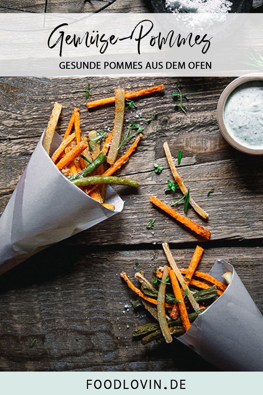 Gemüsepommes mit Kräuterdip   – Rezepte – Appetizer,Dips