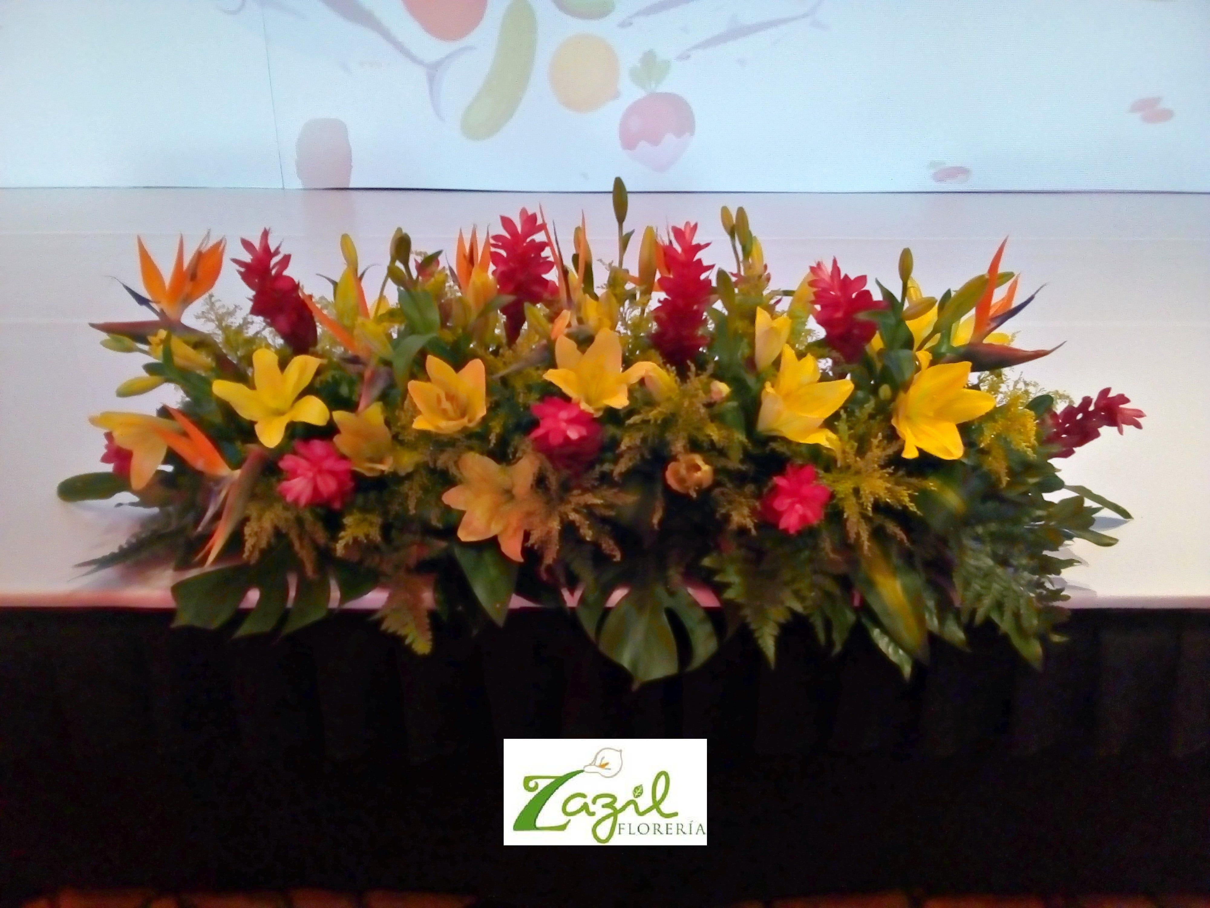 Floral decor for stage Business events, conventions