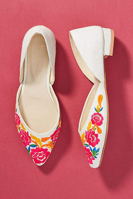 2d670168ea3 Embroidered D'Orsay Flats | photography; footwear | Anthropologie ...