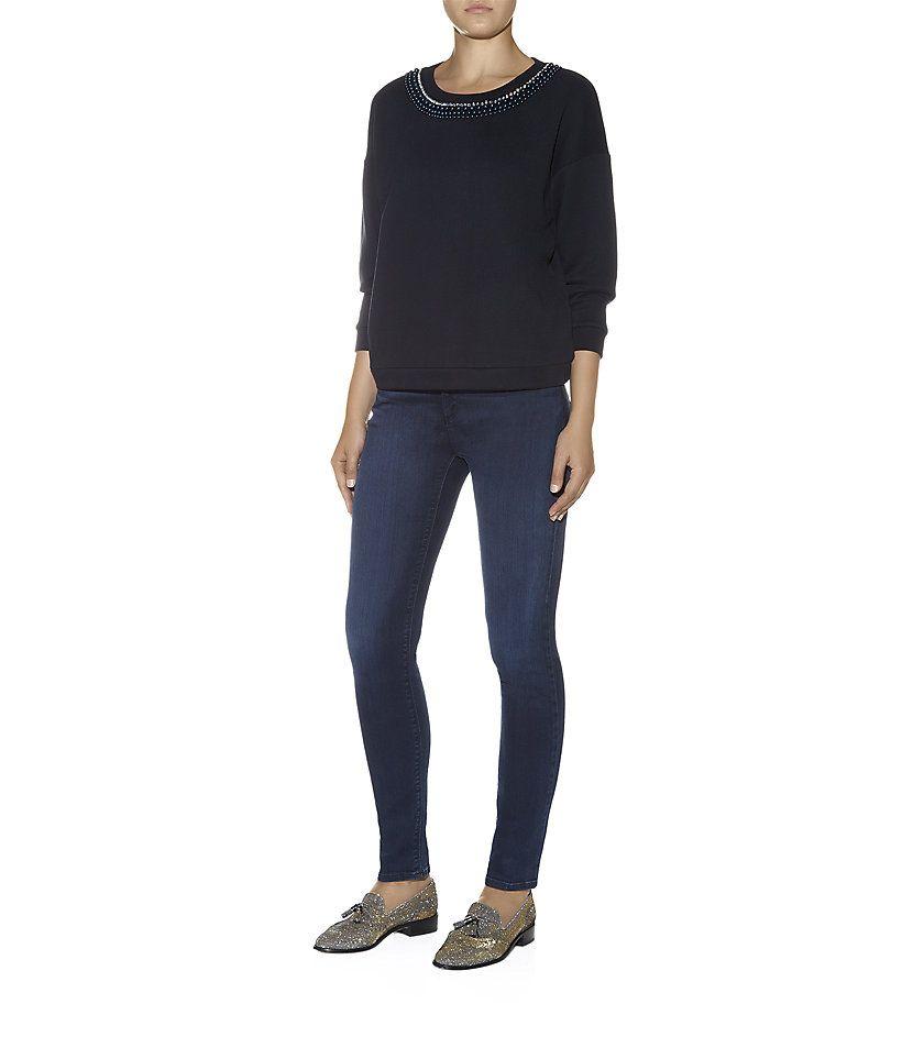 Armani Jeans J28 Skinny Fit Jeans, Dark Wash | Harrods