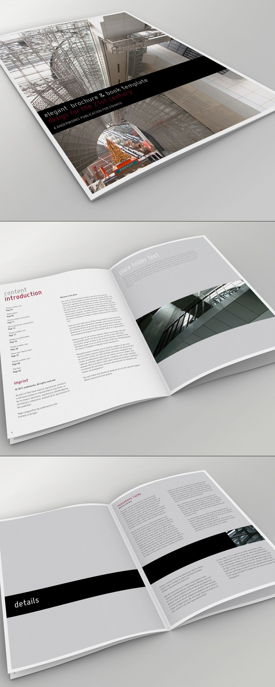 Elegant Brochure Book Template Booklet Brochure Pinterest