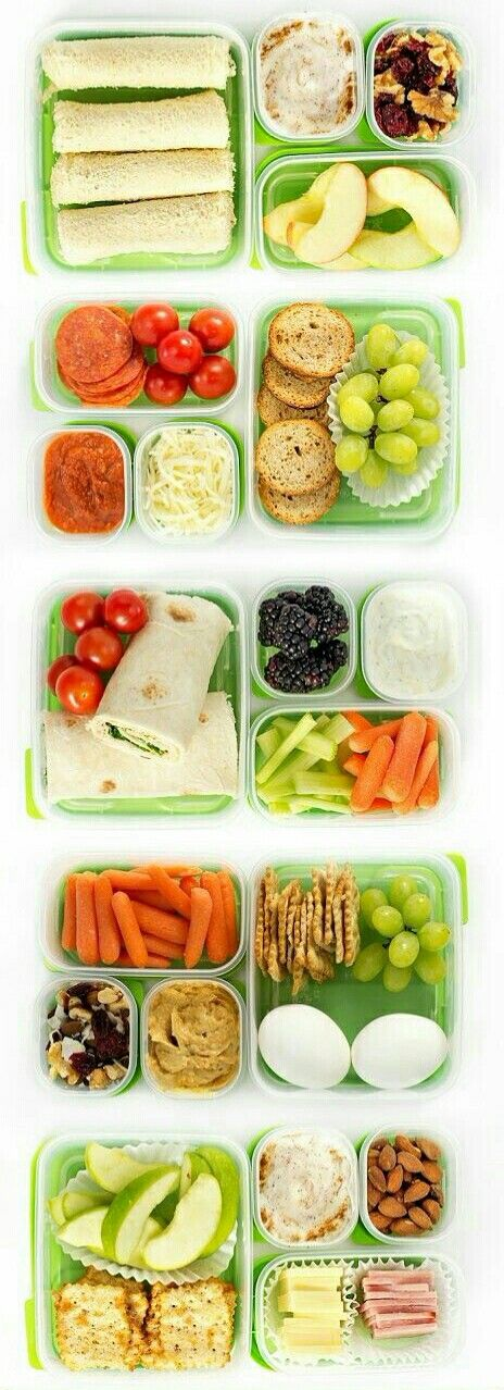 Snacks para la escuela snaks saludable y escuela - Menus para llevar al trabajo ...