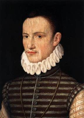 Unknown Portrait of a Nobleman  c. 1570 Oil on panel, 31 x 23 cm National Gallery of Art, Washington  Both the artist and the sitter of this painting are unknown. It is certain that the painting was produced in a courtly milieu.
