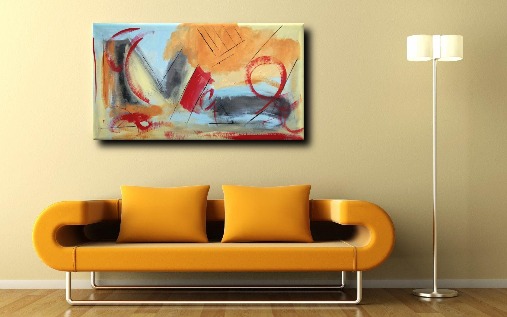 Dipinti Per Soggiorno : Quadri astratti fatti a mano per soggiorno dipinti