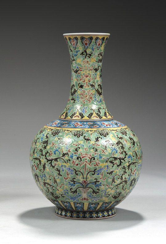 """China ceramic vase shape """"Shangping"""" porcelain decorated ..."""