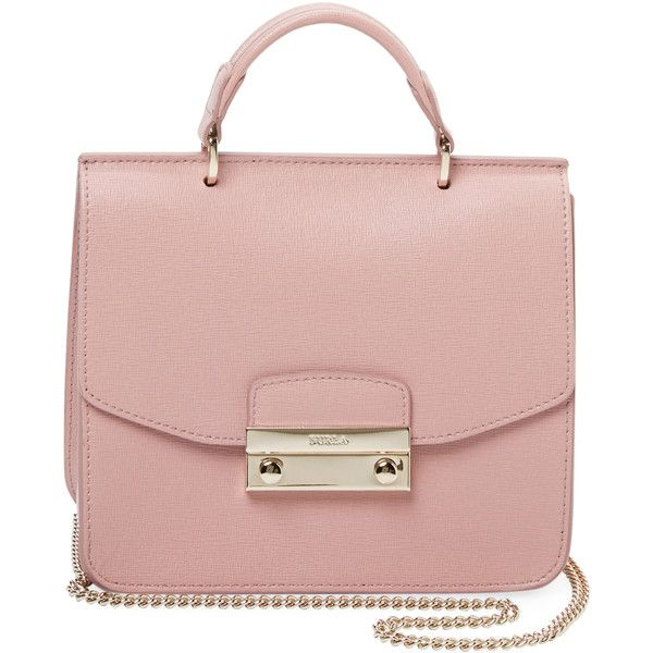 75168b0722d28 Furla Women s Julia Mini Top Handle Satchel - Pink ( 199) ❤ liked on  Polyvore featuring bags