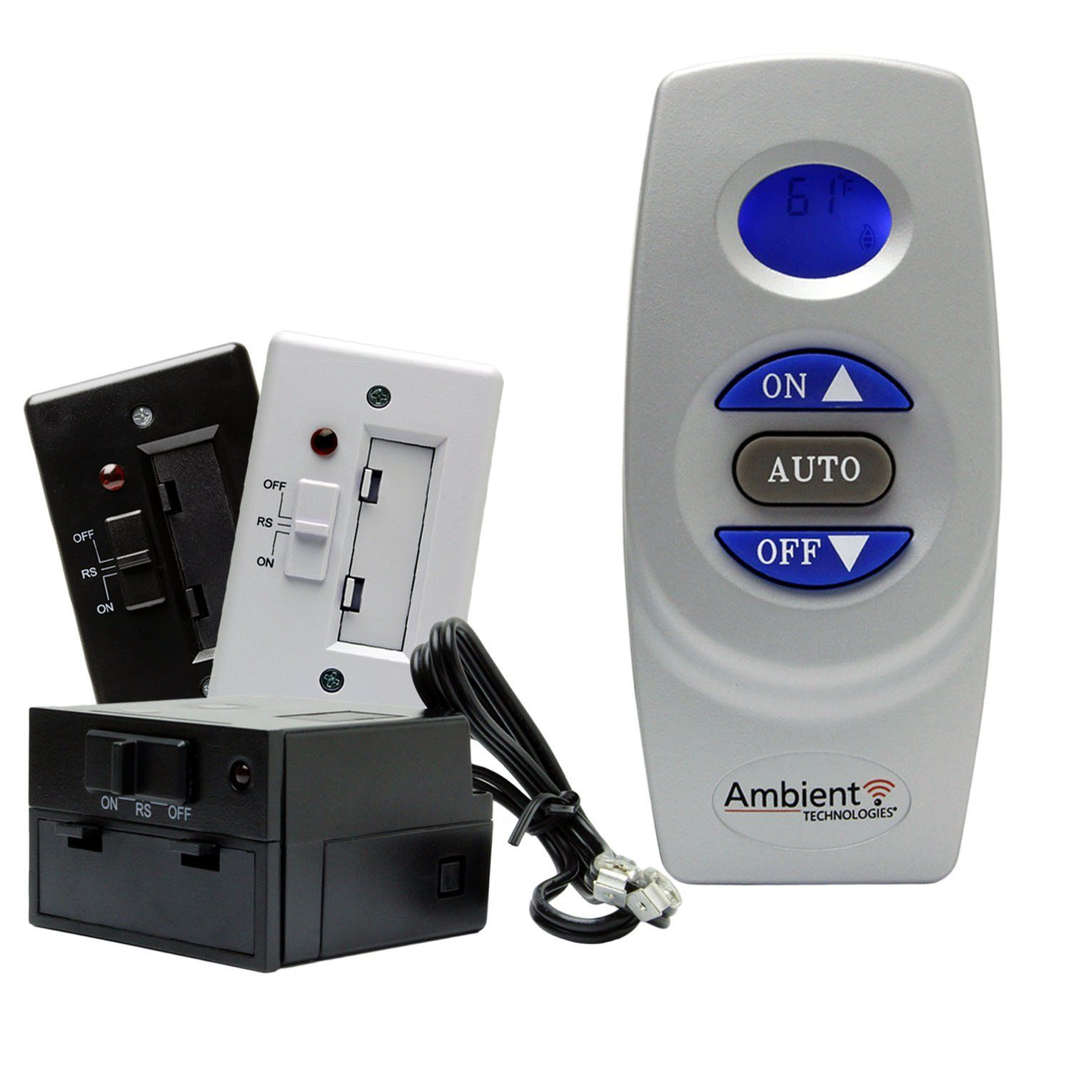 ambient rcst on off thermostat fireplace remote control check