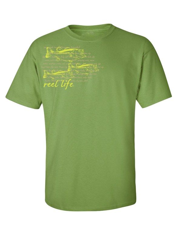 Men's fishing apparel for saltwater and freshwater angler - Bass Graphic Tee $19.99