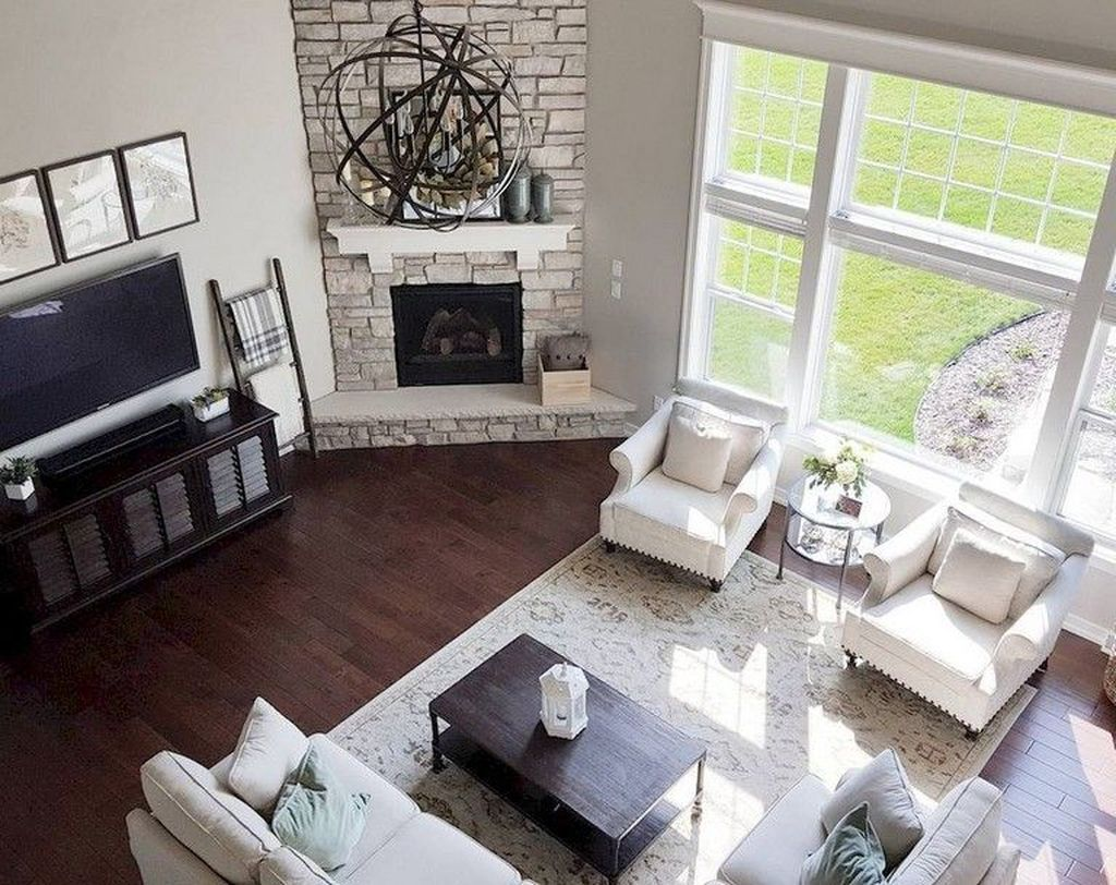Awesome 56 Relaxing Small Living Room Decor Ideas With Fireplace More At Https De Corner Fireplace Living Room Living Room Decor Fireplace Livingroom Layout