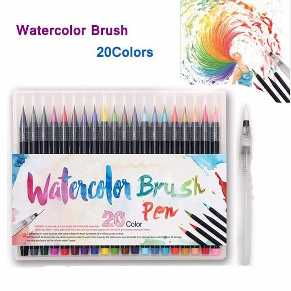 Soft Watercolor Brushes Aquarell Pinsel Und Kunst