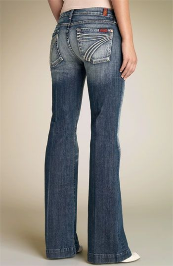7 For All Mankind Dojo Stretch Trouser Jeans Caribbean Extreme