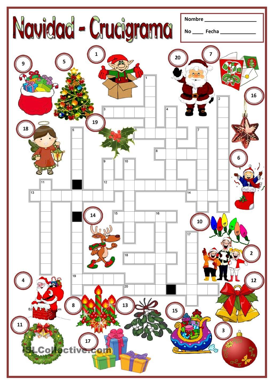full_62490_navidad__1.jpg 1.018×1.440 píxeles | Sopa de letras para niños,  Aula de español, Hojas de trabajo