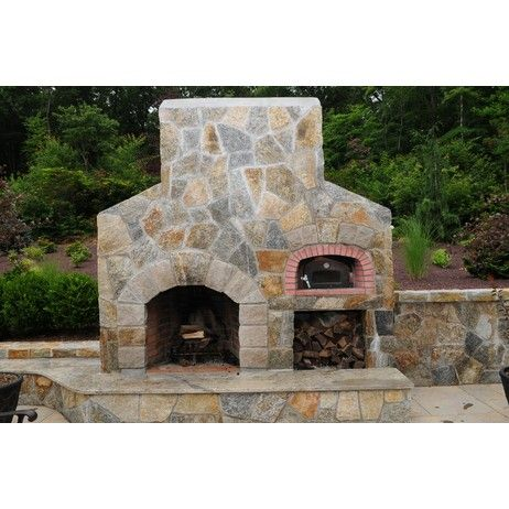 outdoor fireplaces with pizza oven stone outdoor fireplace and tuscany pizza oven custom set. Black Bedroom Furniture Sets. Home Design Ideas