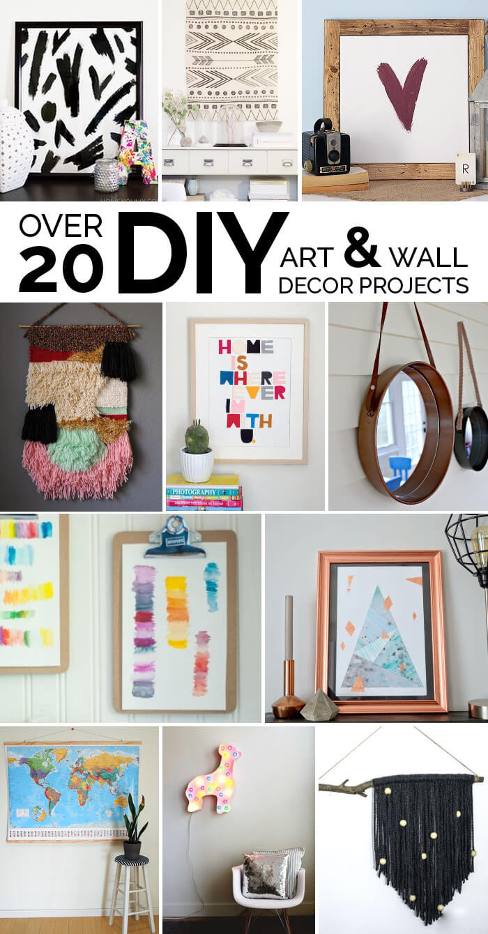 Easy Diy Art Ideas And Wall Decor Projects Persia Lou Easy Diy Art Decor Project Diy Wall Decor