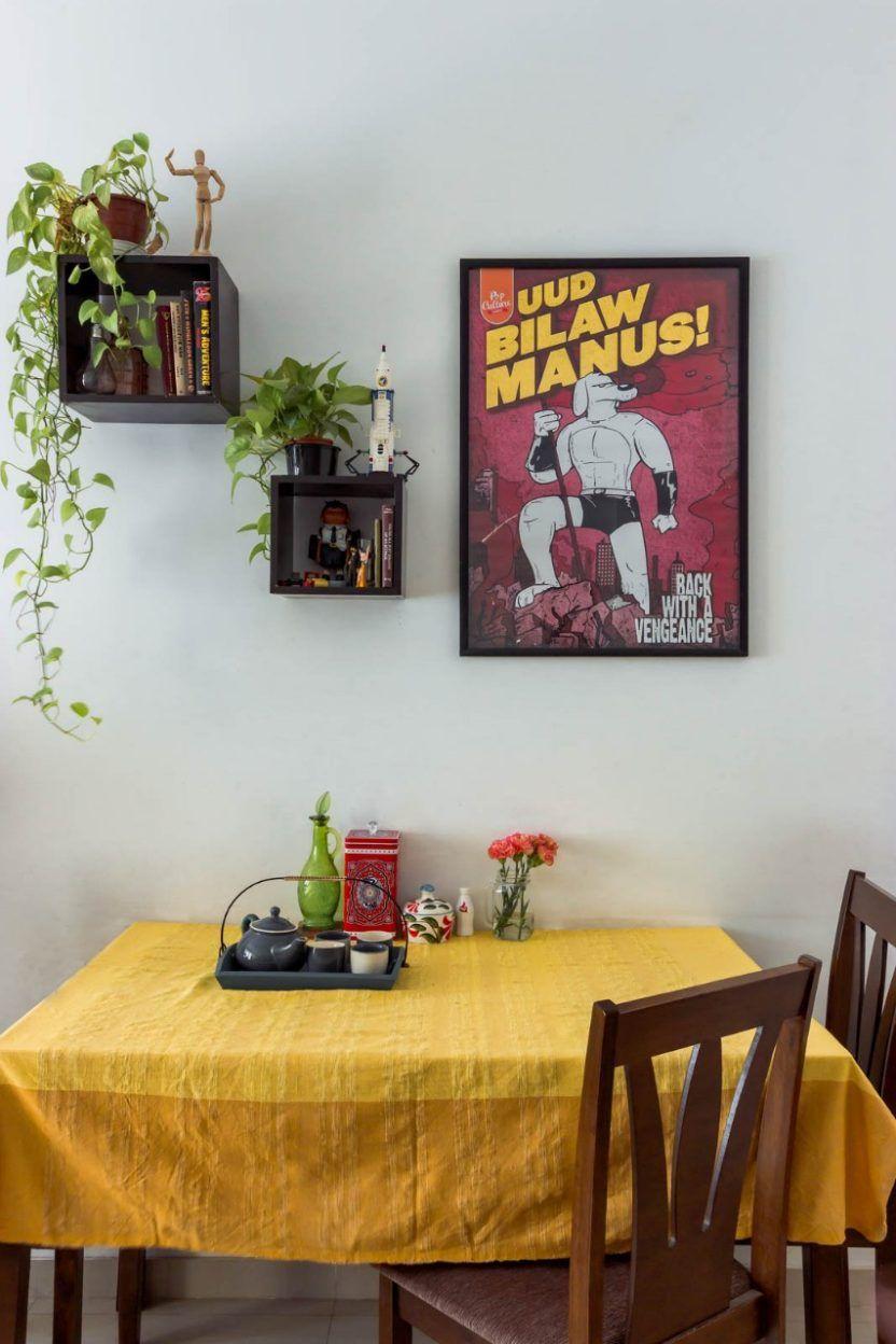 A charming Mumbai rental on a budget- box frames and tray | roomy ...