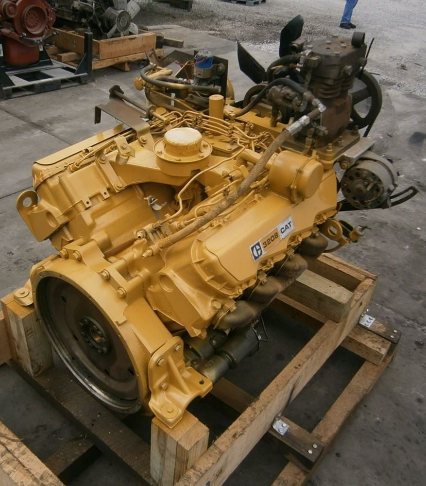 "Caterpillar ""3208"" V-8 diesel engine."