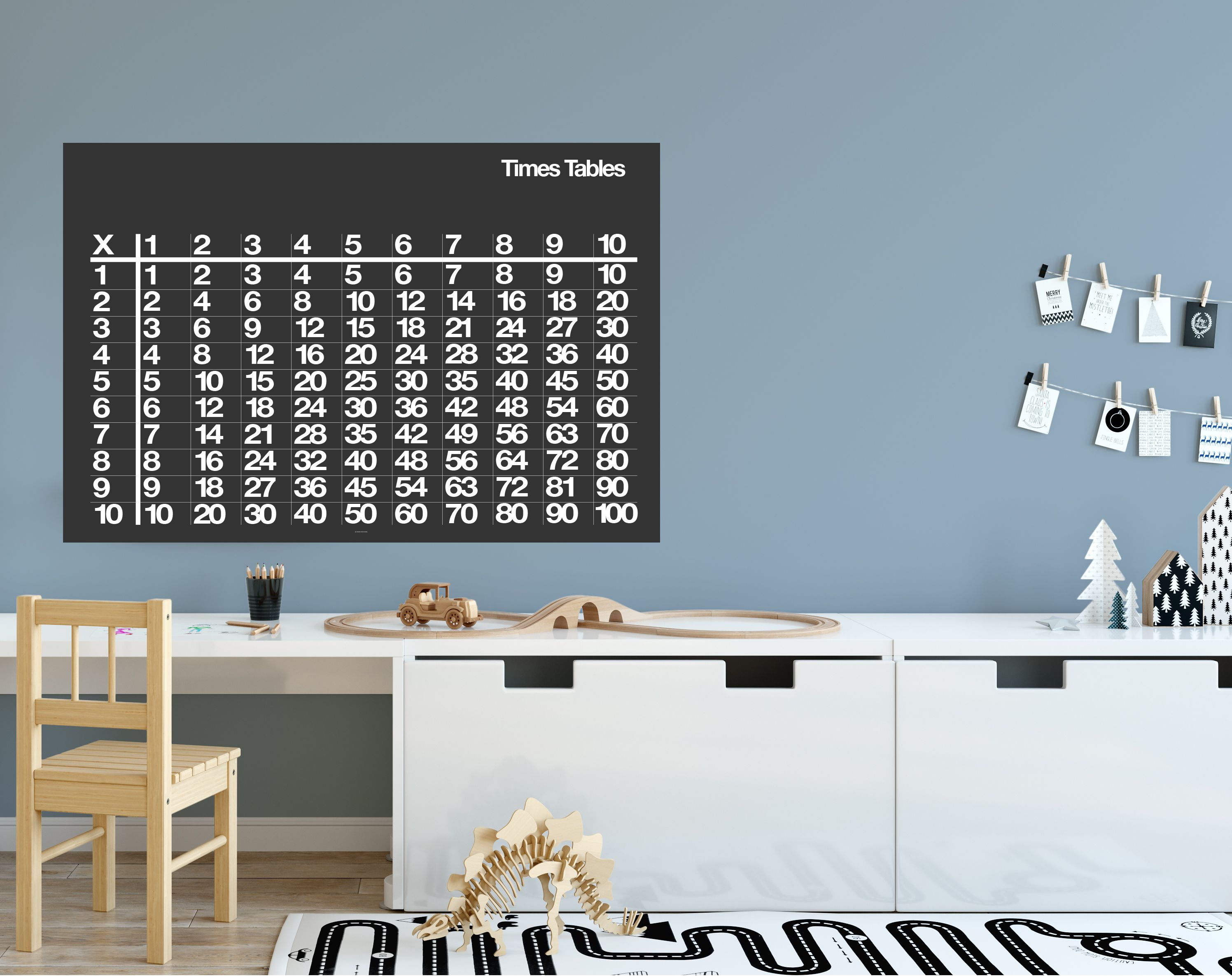 Prints For Kids Playroom Art Mathematics Math Print Table Times Time School Study Room