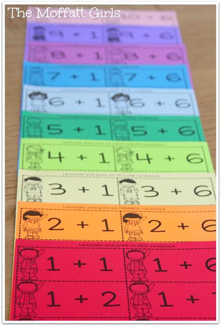 organize your math facts flash cards by printing on colored paper and more ways to make learning. Black Bedroom Furniture Sets. Home Design Ideas