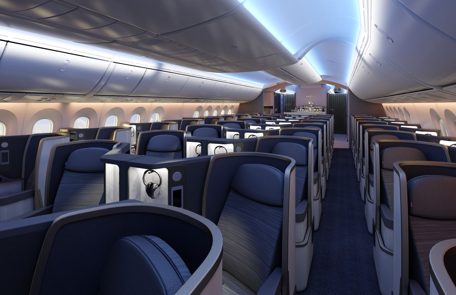 Boeing 787 interior | Vehicle interior design | Pinterest | Aircraft ...