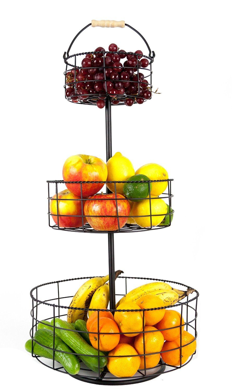 Amazon Com Useful Uh Fb206 3 Tier Decorative Wire Fruit Basket Countertop Stand Fruit Plates Wire Fruit Basket Tiered Fruit Basket Fruit Basket