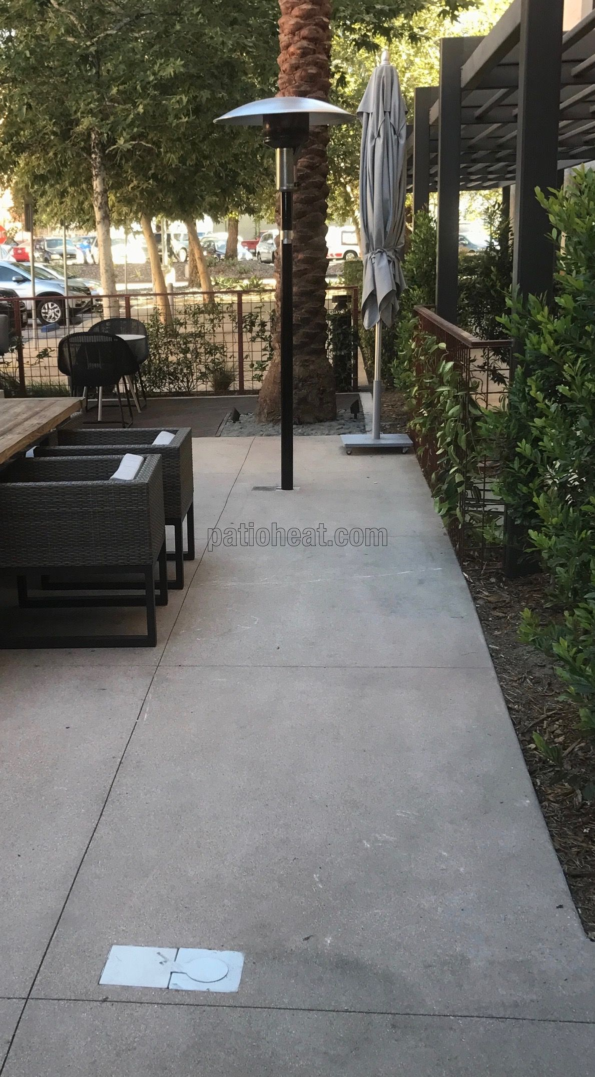 This hotel has installed Sunglo PSA265 patio heaters and Tropic Heating's patio  heater flush underground vault boxes. The vault box noted without the heater  ... - This Hotel Has Installed Sunglo PSA265 Patio Heaters And Tropic