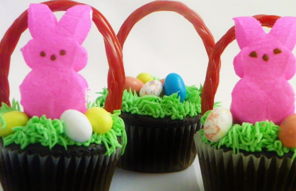 Fun easter basket cupcakes easter baskets easter and delicious fun easter basket cupcakes negle Images