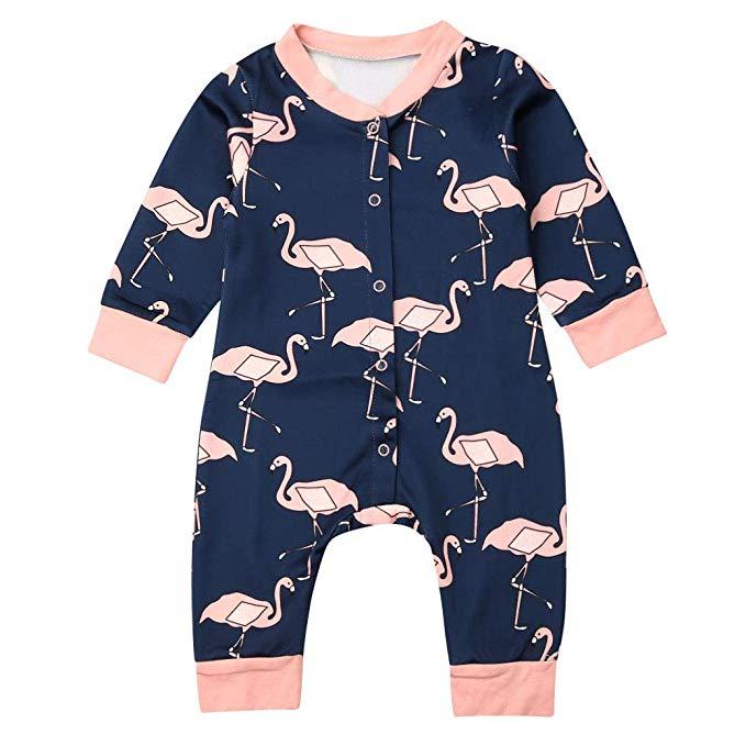 Flamingo Kids Cotton,Long Sleeve Baby Romper
