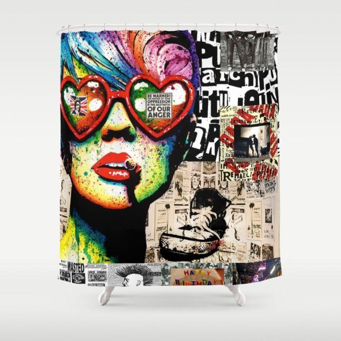 Punk Rock Shower Curtains