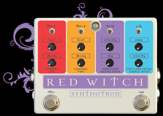 Synthotron   Red Witch   Guitar pedals, Guitar effects ...