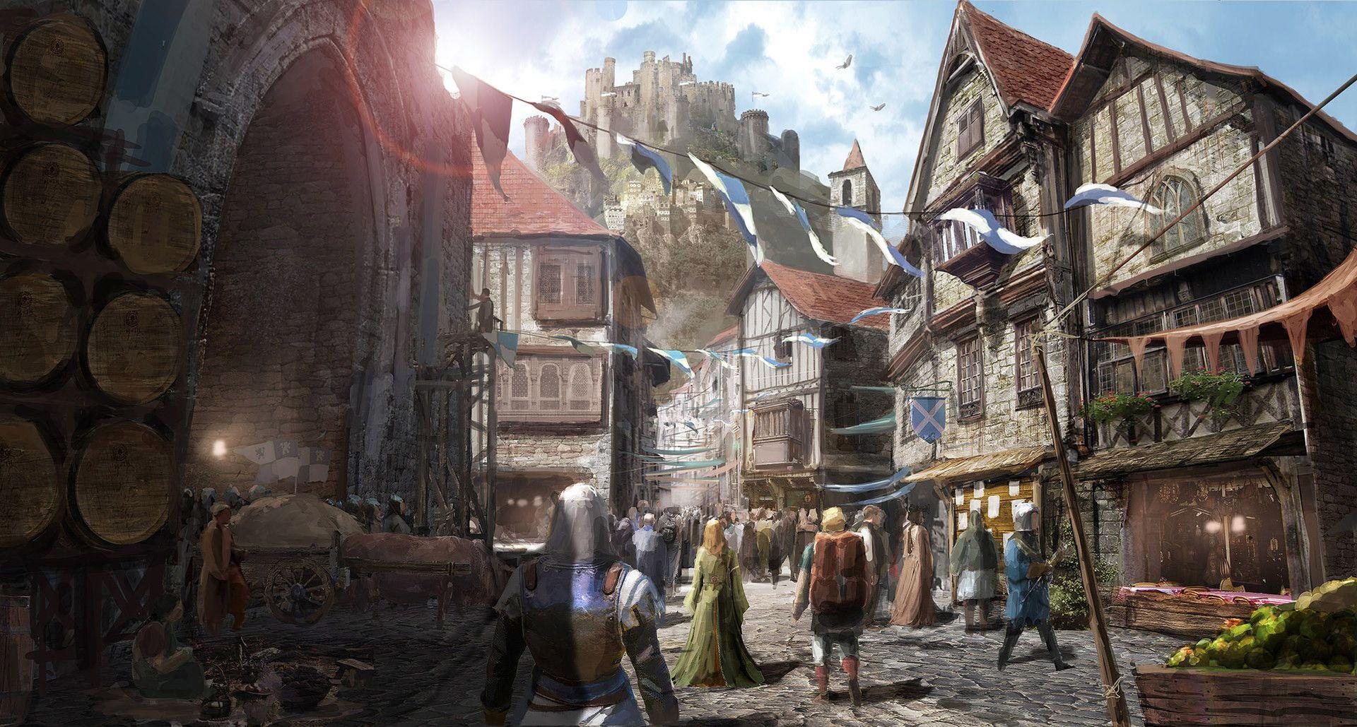 Medieval Village Artstation
