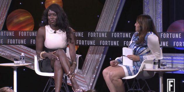 Bozoma Saint John di Apple interviente ad un evento organizzato da Fortune