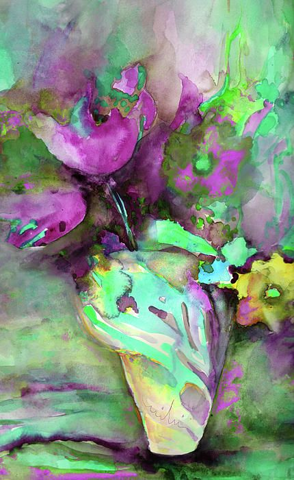 Pink Tulips - watercolor by ©Miki De Goodaboom (via FineArtAmerica)