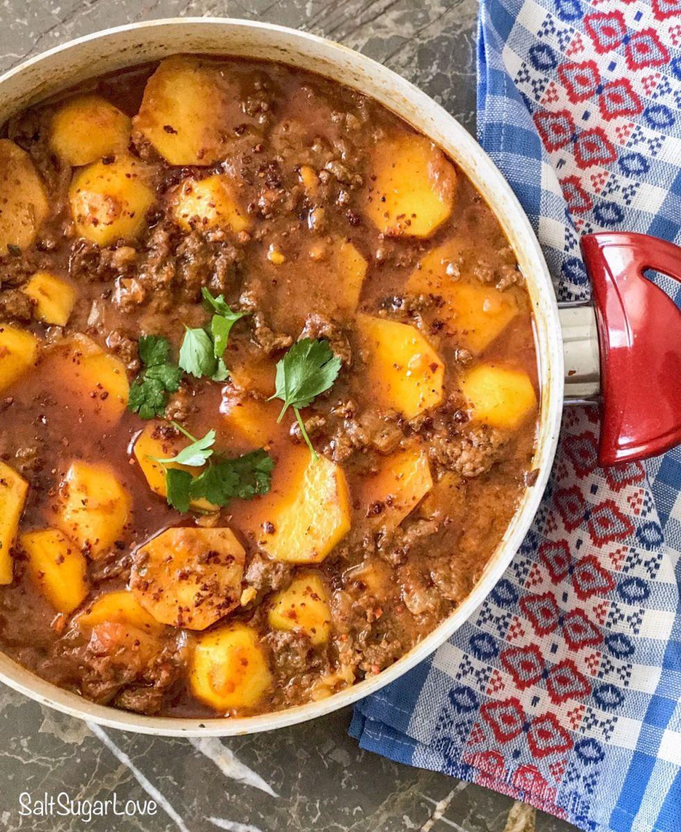 Kartoffeln mit Hackfleisch – SaltSugarLove