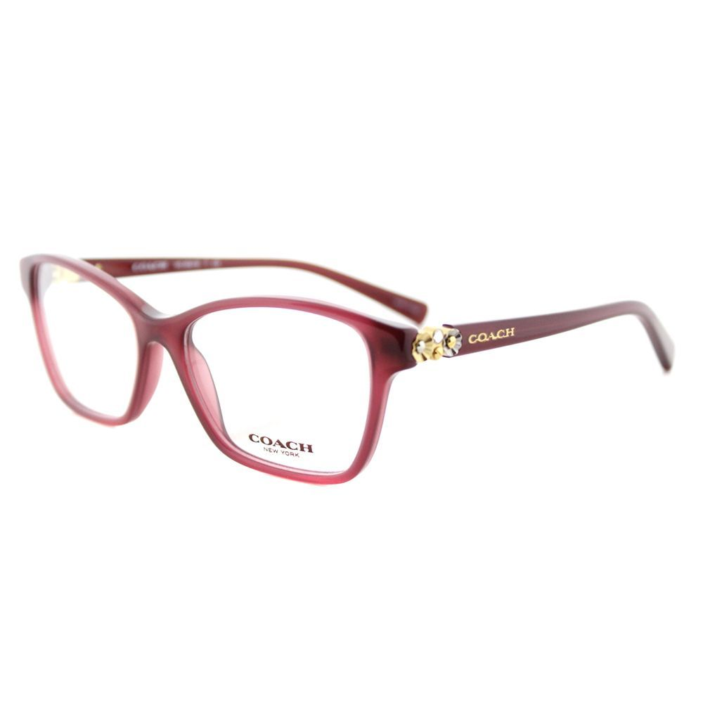 Coach HC 6091B 5398 Milky Cherry Square 53mm Eyeglasses | Groovy ...