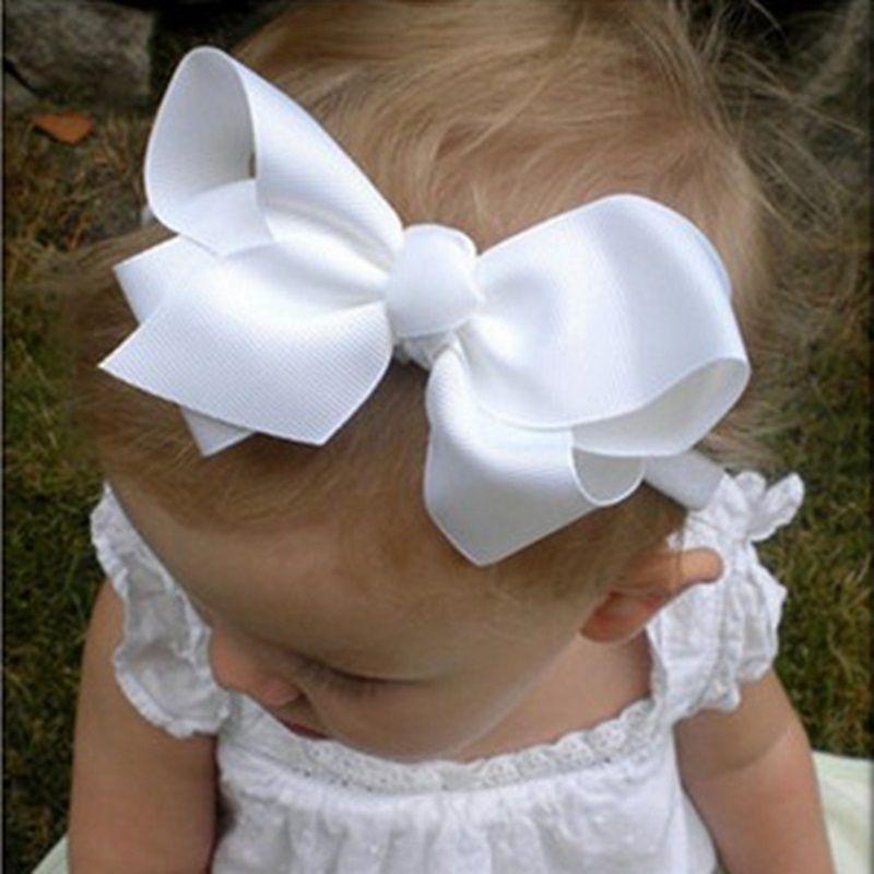 16 farben Baby Mädchen Großen Bogen Stirnband Säuglings Bebe Haar zubehör Elastische Haarbänder Beugen Kleines Kind Mädchen Stirnbänder 1 stück HB179