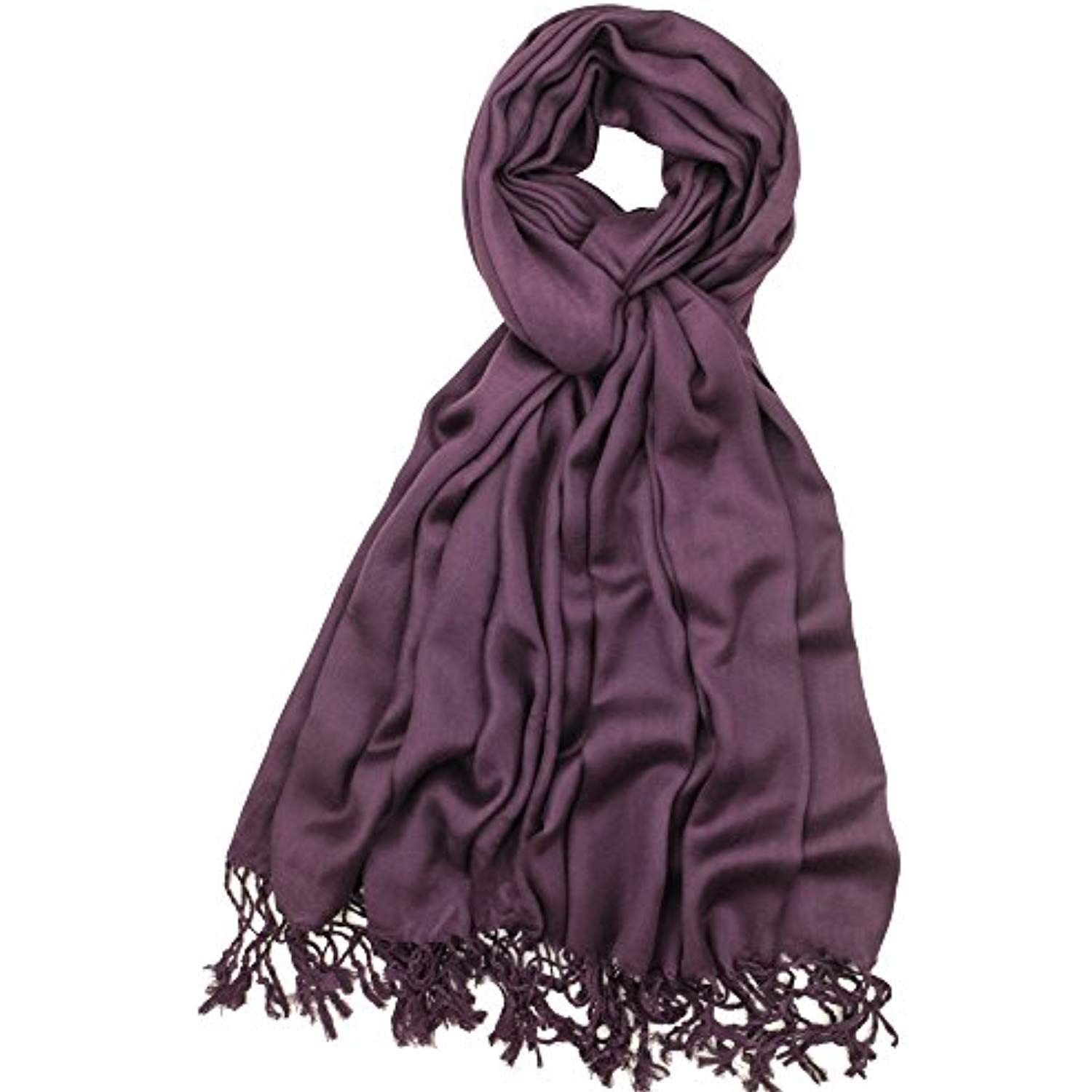 be801de14bf9d Super Soft Luxurious Satin Look Pashmina Shawl Wrap Scarf in Solid Colors  *** Check