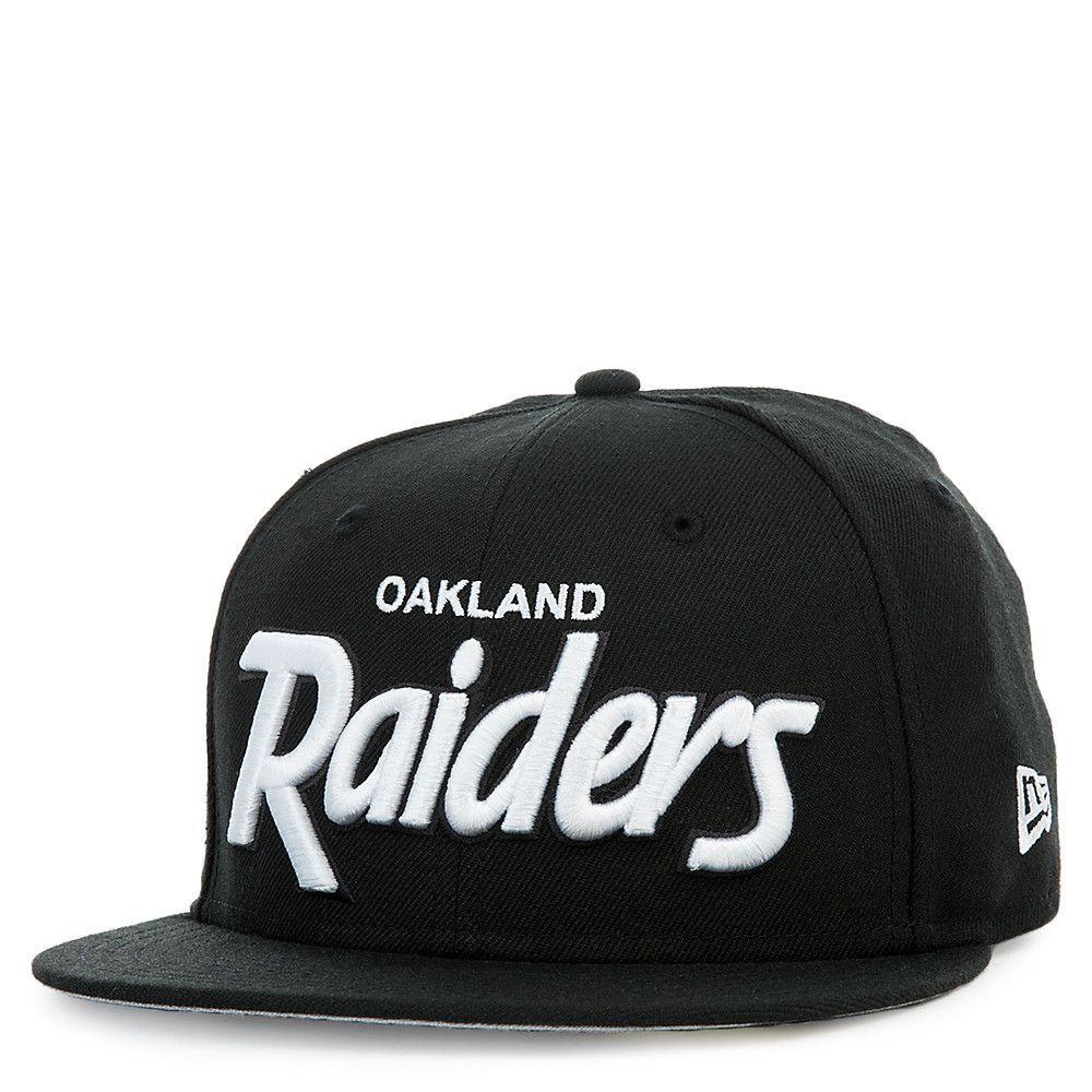 f3a08ab4 Oakland Raiders Black Script Cap BLACK | KP | New era cap, Baseball ...