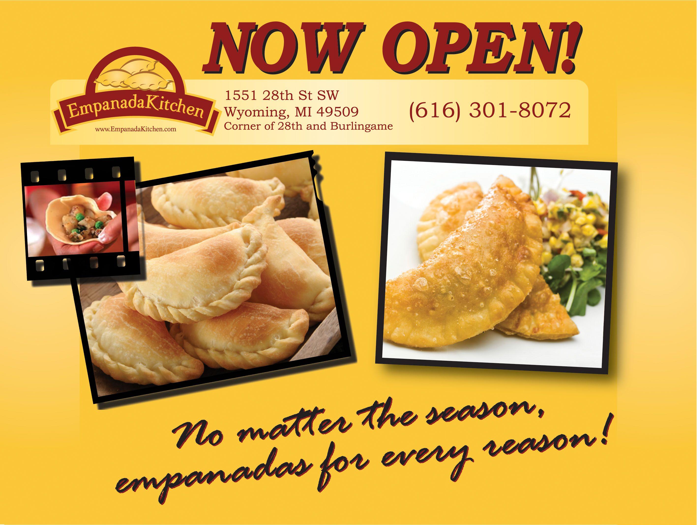 Empanada Kitchen Postcard Marketing Front Snack Recipes