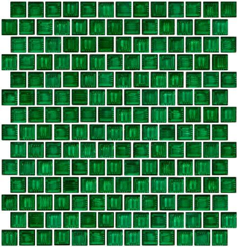 Susan Jablon 3 4 Inch Transparent Christmas Green Glass Tile