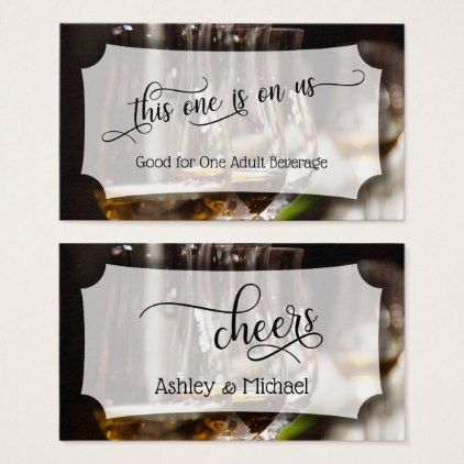 Bar Photo Script Wedding  Event Drink Tickets - calligraphy gifts - Event Plan Template