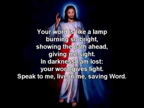Catholic Hymn, Speak Lord (I love to listen to your voice) - lyrics