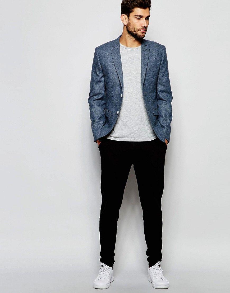 93193dde1c47 Blue summer blazer for men | MENSWEAR | Blazers for men casual, Mens ...