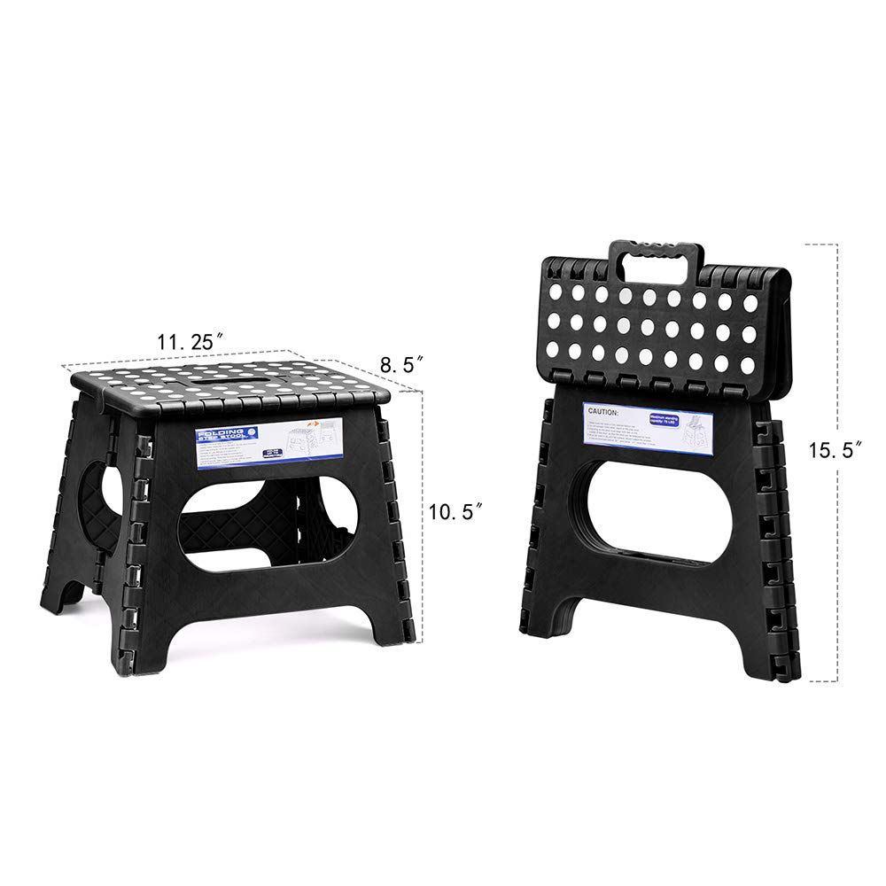 Acko 11 Inches Folding Step Stool For Kids Adults Kitchen Garden Bathroom Stepping Stool Black Check Out This Step Stool Kids Folding Step Stool Step Stool