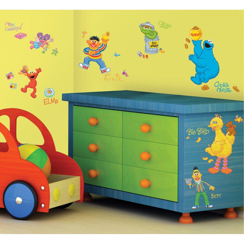 Sesame Street Nursery Room Wall Decals | Nursery | Pinterest ...