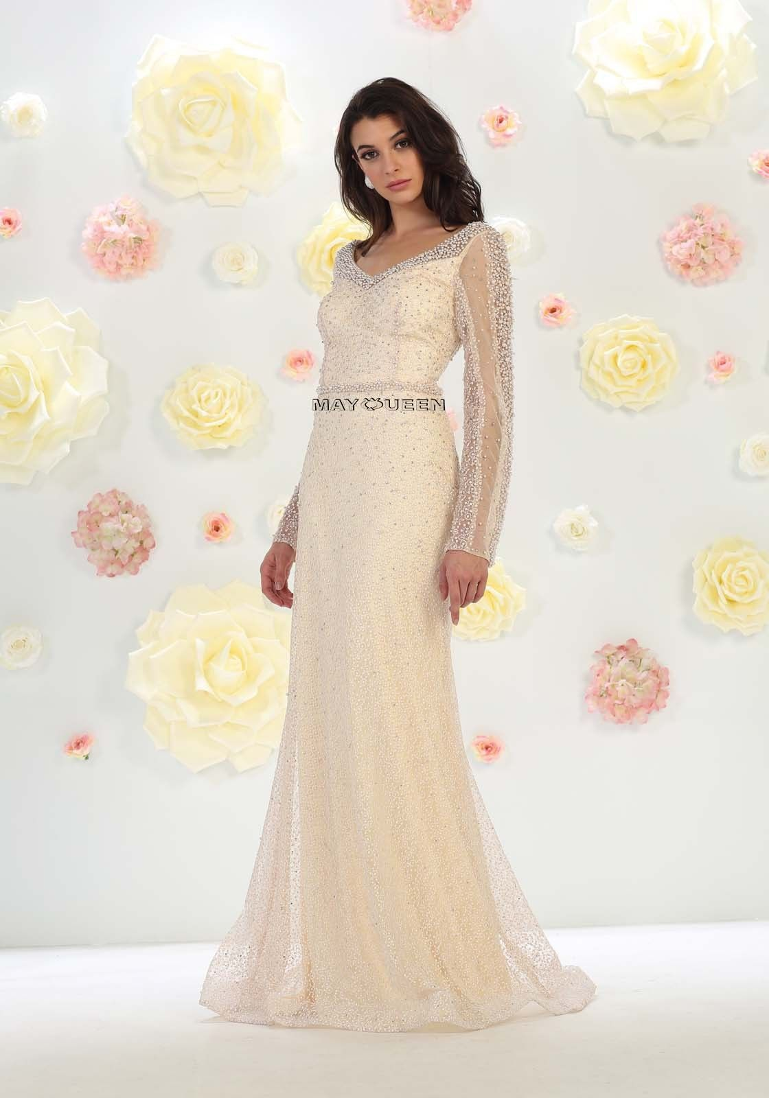 Long sleeve lace formal dress evening gown in dresses